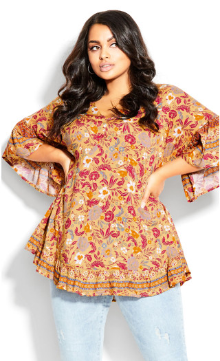 Parker Tunic - yellow floral