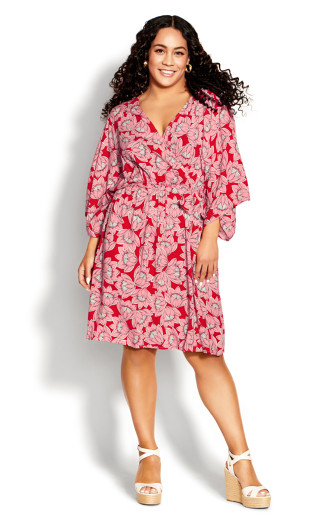 Day Date Mini Dress - pink floral