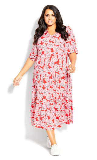 To The Max Dress - pink floral