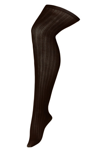Rib Tights - brown