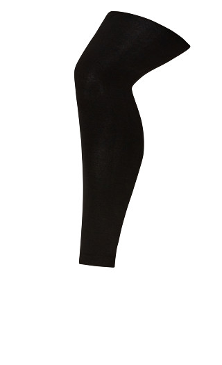Fleece Lined Footless Tights - black