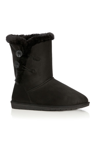 Zoey Faux Fur Lined Boot - black