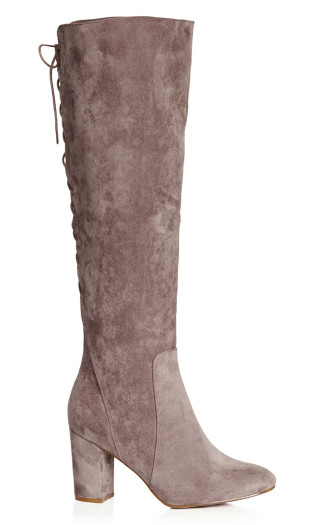 Perry Knee High Boot - mushroom