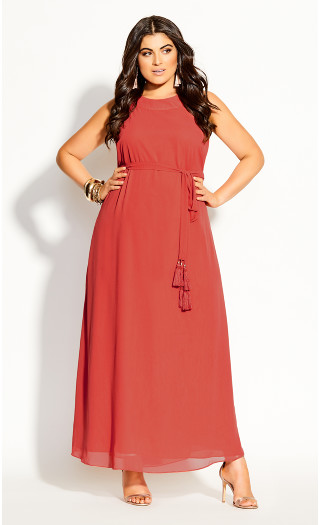 Halter Bliss Maxi Dress - punch