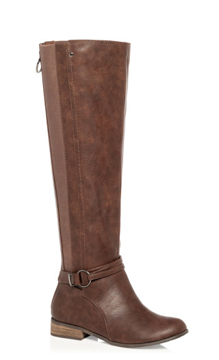 Phoebe Knee High Boot - chocolate