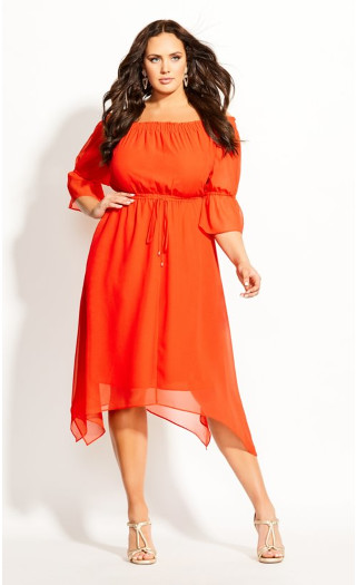 Reflections Dress - sunkist