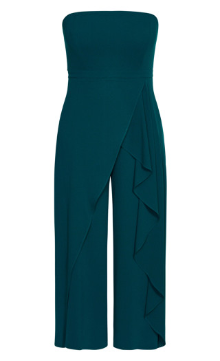 Attraction Jumpsuit - emerald