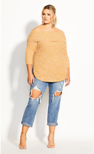 Scoop Me Up Jumper - gold