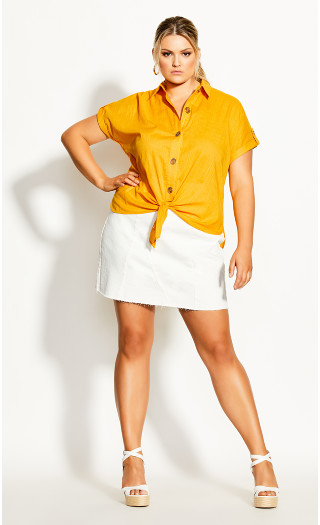 Explore Button Shirt - amber