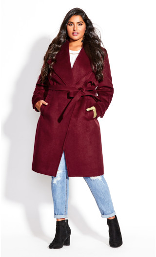 So Sleek Coat - ruby