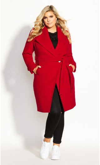 So Chic Coat - red