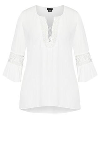 Romantic Lace Top - ivory