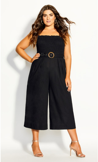 Wild Smock Jumpsuit - black