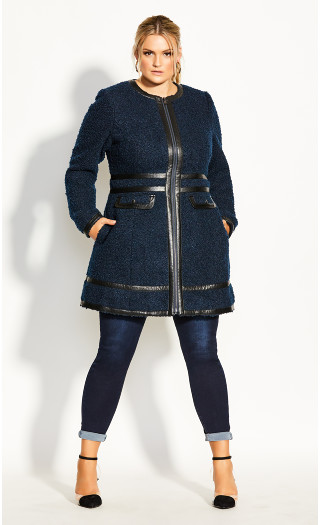 Winter Escape Coat - navy