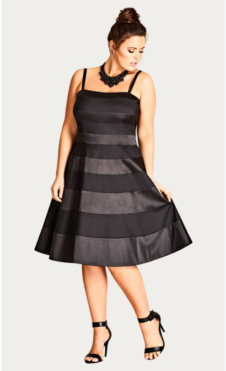 Miss Shady Fit & Flare Dress - black