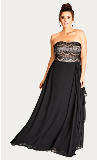 Eyelash Ebony Maxi Dress