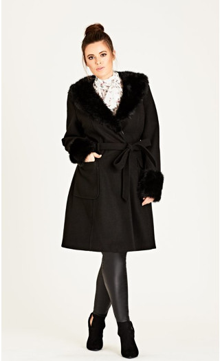 Make Me Blush Coat - black