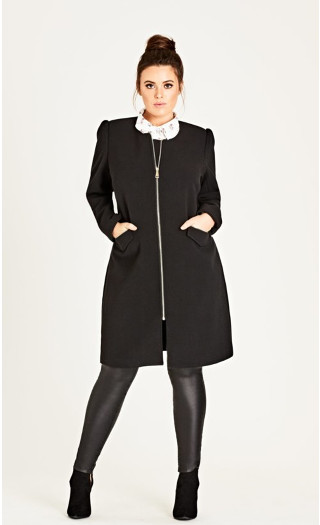 Simple Elegance Coat - black