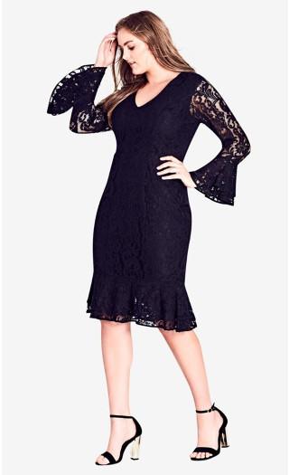 Lace Desire Dress - Black