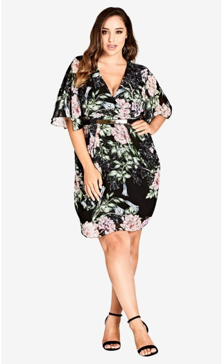 Blossoms Dress - black