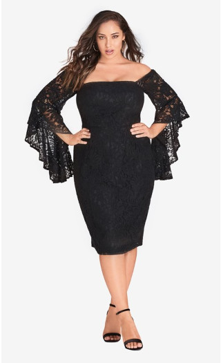 Mystic Lace Dress - black