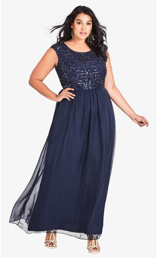 Sweet Love Maxi Dress - Navy