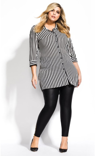 Stripe Love Tunic - black