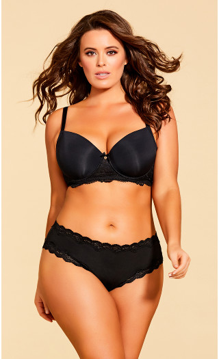 Eye of the Tiger Contour Bra - Black