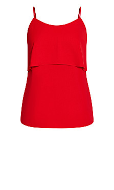Sweet Tier Cami - red