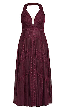 Divine Whimsy Maxi Dress - imperial