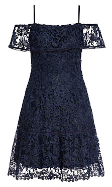 Dream Of Lace Dress - navy