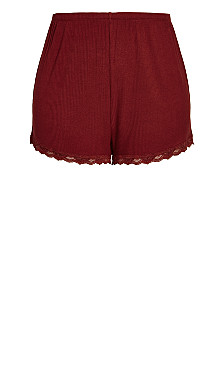 Lounge Short - pomegranate
