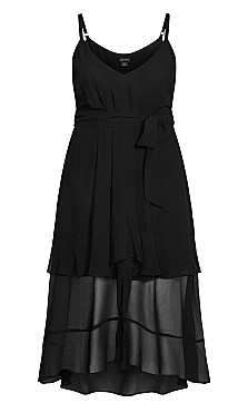 Mirage Frills Maxi Dress - black