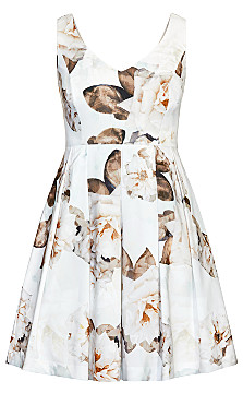 English Bloom Dress - ivory