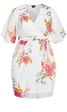 Beloved Wrap Dress - ivory