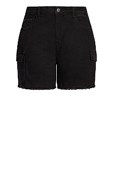 Denim Pockets Short - black