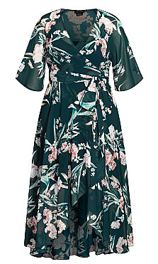 Fresh Fields Maxi Dress - jade