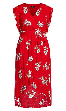 Love Floral Maxi Dress - red