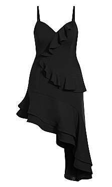 Supreme Ruffle Dress - black