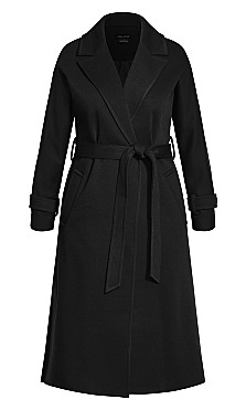 Clean Tie Coat -black