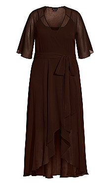 Enthral Me Maxi Dress - chocolate