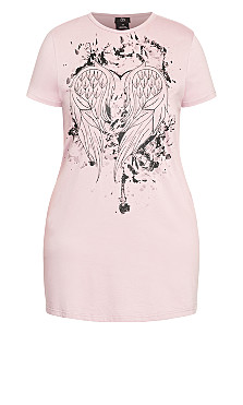 Heart Wings Dress - dusty rose