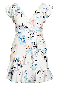 Shy Orchid Dress - ivory