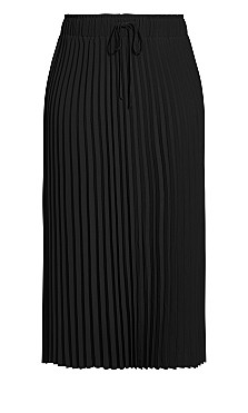 Simple Pleat Skirt - black