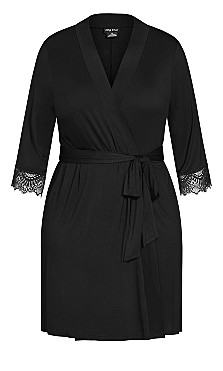Kasia Short Robe - black
