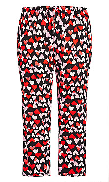 Print Sleep Pant - black heart
