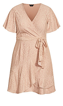 Sweet Love Lace Dress - rose