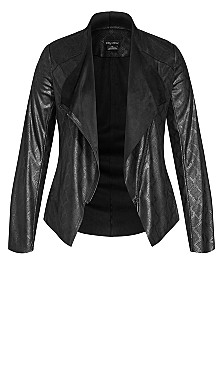 Sleek Waterfall Jacket - black