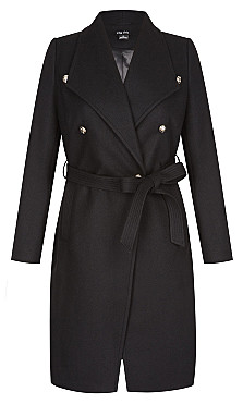 Sassy Military Coat - black