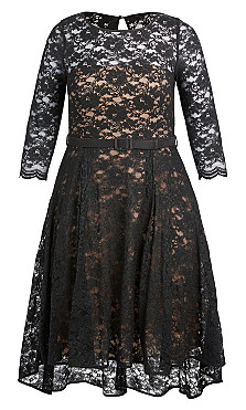 Lace Lover Dress - Black